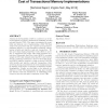 Disjoint-Access Parallelism: Impossibility, Possibility, and Cost of Transactional Memory Implementations