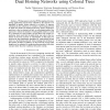 Disjoint Multipath Routing in Dual Homing Networks using Colored Trees