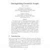 Distinguishing geometric graphs