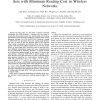 Distributed Construction of Connected Dominating Sets with Minimum Routing Cost in Wireless Networks