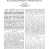 Distributed control diffusion: towards a flexible programming paradigm for modular robots