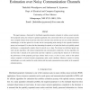 Distributed Node Selection for Sequential Estimation over Noisy Communication Channels