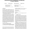 Distributed resource management and matching in sensor networks