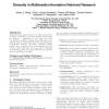 Diversity in multimedia information retrieval research