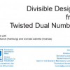 Divisible designs from twisted dual numbers