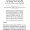 Does a Hybrid Electronic-Paper Environment Impact on Health Professional Information Seeking?