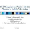 Drift management and adaptive bit rate allocation in scalable video coding