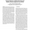 Dynamic behavior of differential pricing and quality of service options for the internet