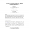 Dynamic consistency in process algebra: From Paradigm to ACP
