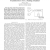 Dynamic data compression for wireless transmission over a fading channel