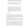 Dynamically Changing Trust Structure in Capability Based Access Control Systems