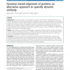 Dynamics based alignment of proteins: an alternative approach to quantify dynamic similarity