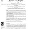 Effect of team diversity on software project performance