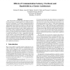 Effects of Communication Latency, Overhead, and Bandwidth in a Cluster Architecture
