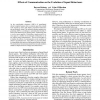 Effects of Communication on the Evolution of Squad Behaviours