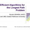 Efficient Algorithms for the Longest Path Problem