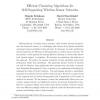 Efficient clustering algorithms for self-organizing wireless sensor networks