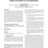 Efficient code caching to improve performance and energy consumption for java applications