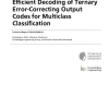 Efficient Decoding of Ternary Error-Correcting Output Codes for Multiclass Classification