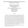 Efficient Directional Network Backbone Construction in Mobile Ad Hoc Networks