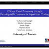 Efficient Event Processing through Reconfigurable Hardware for Algorithmic Trading