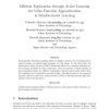 Efficient exploration through active learning for value function approximation in reinforcement learning