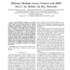 Efficient Medium Access Control with IEEE 802.11 for Mobile Ad Hoc Networks