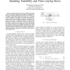Efficient reliability simulation of analog ICs including variability and time-varying stress