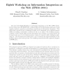 Eighth workshop on information integration on the web (IIWeb 2011)