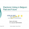 Electronic Voting in Belgium: Past and Future