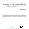 Emissions vs. Travel Time: Simulative Evaluation of the Environmental Impact of ITS