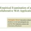 Empirical examination of a collaborative web application