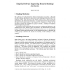Empirical Software Engineering Research Roadmap Introduction