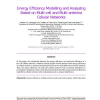 Energy Efficiency Modelling and Analyzing Based on Multi-cell and Multi-antenna Cellular Networks
