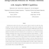 Energy-efficient protocols for wireless networks with adaptive MIMO capabilities