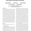 Energy evaluation of software implementations of block ciphers under memory constraints