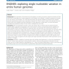ENGINES: exploring single nucleotide variation in entire human genomes