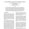 Environmental Risk, Cooperation, and Communication Complexity