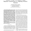 Equitable Energy Consumption during Repeated Transmissions in a Multihop Wireless Network
