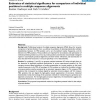 Estimates of statistical significance for comparison of individual positions in multiple sequence alignments