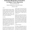 Estimating Illumination Chromaticity via Support Vector Regression