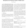 Estimation for Strictly Positive Stable Laws