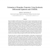 Estimation of boundary properties using stochastic differential equations