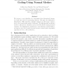 Estimation-Quantization Geometry Coding Using Normal Meshes