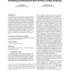 Evaluating unstructured peer-to-peer lookup overlays