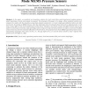 Evaluation for diaphragm's deflection for touch mode MEMS pressure sensors