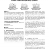 Evaluation of interrupt handling timeliness in real-time Linux operating systems