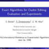 Exact Algorithms for Cluster Editing: Evaluation and Experiments