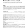 Experience using web services for biological sequence analysis