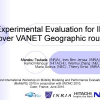 Experimental evaluation for IPv6 over VANET geographic routing